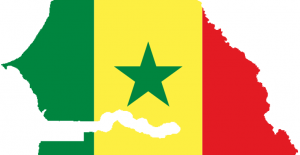 carte senegal drapeau