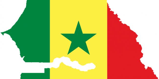 carte senegal drapeau