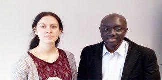 Sur la photo: avec Delphine Reuter, Coordinatrice des formations en journalisme IHECS
