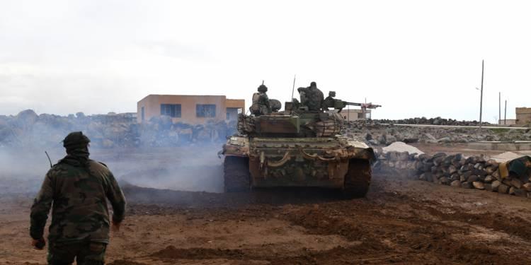 Des missiles tirés sur des positions militaires du régime — Syrie